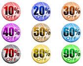 Sale set of percent — Stock Photo
