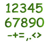 Herbal numbers on a white background — Stock Photo