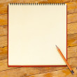 Notebook with pencil — Stock Photo #69392295