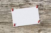 Blank paper memo on wood — Stock Photo