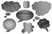 Set of metal Speech Bubbles isolated — Stock Photo