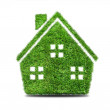 Abstract green grass house icon — Stock Photo #70175325