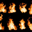 Fire flames collection. — Stockfoto #75464491