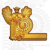 Ročník zlaté písmeno p — Stock vektor