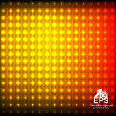 Headlamp reflective yellow red abstract mosaic background with light spots glowing — 图库矢量图片