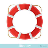 Flat icon lifebuoy object on white — Stock Vector