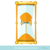 Flat  icon sand hourglass on white — Stock Vector