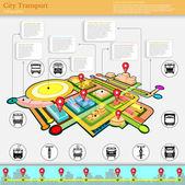 City transport infographic — 图库矢量图片