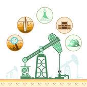 Renk petrol derrick — Stok Vektör