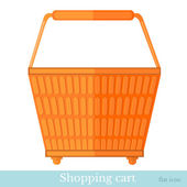 Orange shoping basket — Stockvector