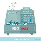 Flat cash register — Stock Vector