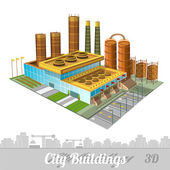 Building of factory or plant — Stock Vector