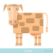 Flat cow kine — Stock Vector
