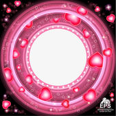Valentines day glowing background — Stock Vector