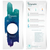 Poster Templates with Watercolor Paint Splash — Stock Vector
