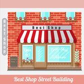 Płaska fasada najlepszy sklep — Wektor stockowy