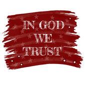 In god we trust slogan — Stock Vector