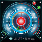 Speedometer with arrow indicators — Stock Vector