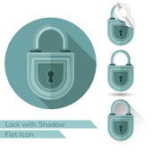 Set of lock icons in flat style — Stock Vector