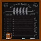 Sausage grill on spit — Stock Vector