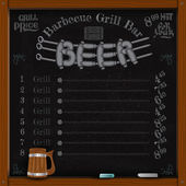 Beer lettering from sausage grill — Stock Vector