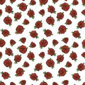 Pattern with red roses — Stock Vector