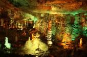 Soreq stalactite cave — Stock Photo