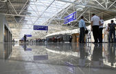 Departure lounge at the airport Boryspil — Stock Photo