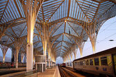Platform of the new Oriente Station in Lisbon — Stock Photo