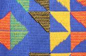 Fragment homespun carpet — Stock Photo