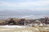 Dead Sea plants and evaporation ponds — Stock Photo