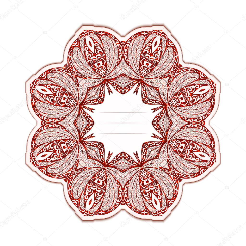 矢量图的阿拉伯式花纹优雅的问候卡