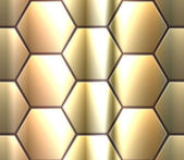 Vector seamless pattern with metallic hexahedron puzzles — Stock vektor