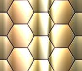 Vector seamless pattern with metallic hexahedron puzzles — Vector de stock