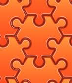 Wektor wzór z zagadkami pomarańczowy pręt sześciokątny. — Wektor stockowy