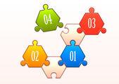 Concept of colorful puzzle pieces — Vector de stock