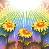 Tło z kwiatami — Wektor stockowy