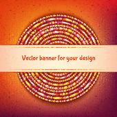 Vektor gerundet banner mit beispieltext auf farbigem hintergrund — Stockvektor