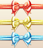 Vector bow set — Stock Vector