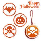 Vector set of Halloween tags — Stock Vector
