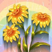 Vector fundo com flores — Vetorial Stock