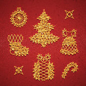 Vector set of Christmass symbols for your design — Vector de stock