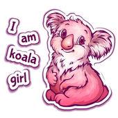 Vector illustration of koala in cartoon style — Stockvektor