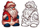 Vektor skiss av jultomten. jul illustration — Stockvektor