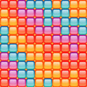 Seamless mosaic pattern in different colors — Stock Photo