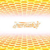 Vector honeycomb background from yellow to white colors — Stockvektor