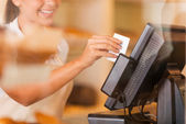 Cashier at work. — Stock Photo