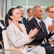 Group of happy business people applauding — Stock Photo #52991997