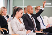 Group of business  in conference hall — Stock Photo