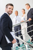 Young and successful man in formalwear — Stock Photo
